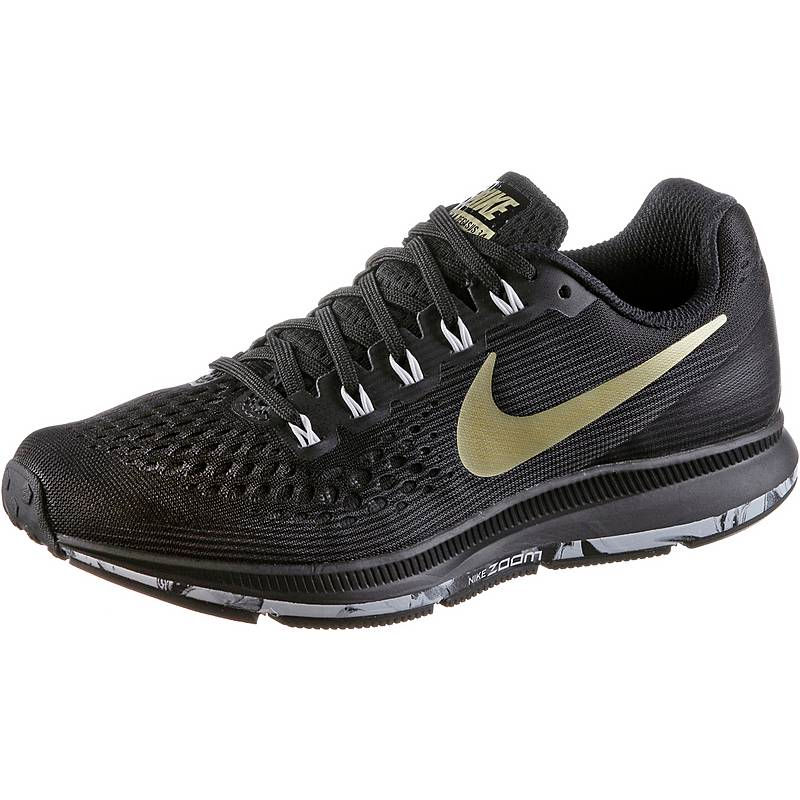 NikeWMNS NIKE AIR ZOOM PEGASUS 34  LaufschuheDamen  blackmtlcgoldstaranthacit
