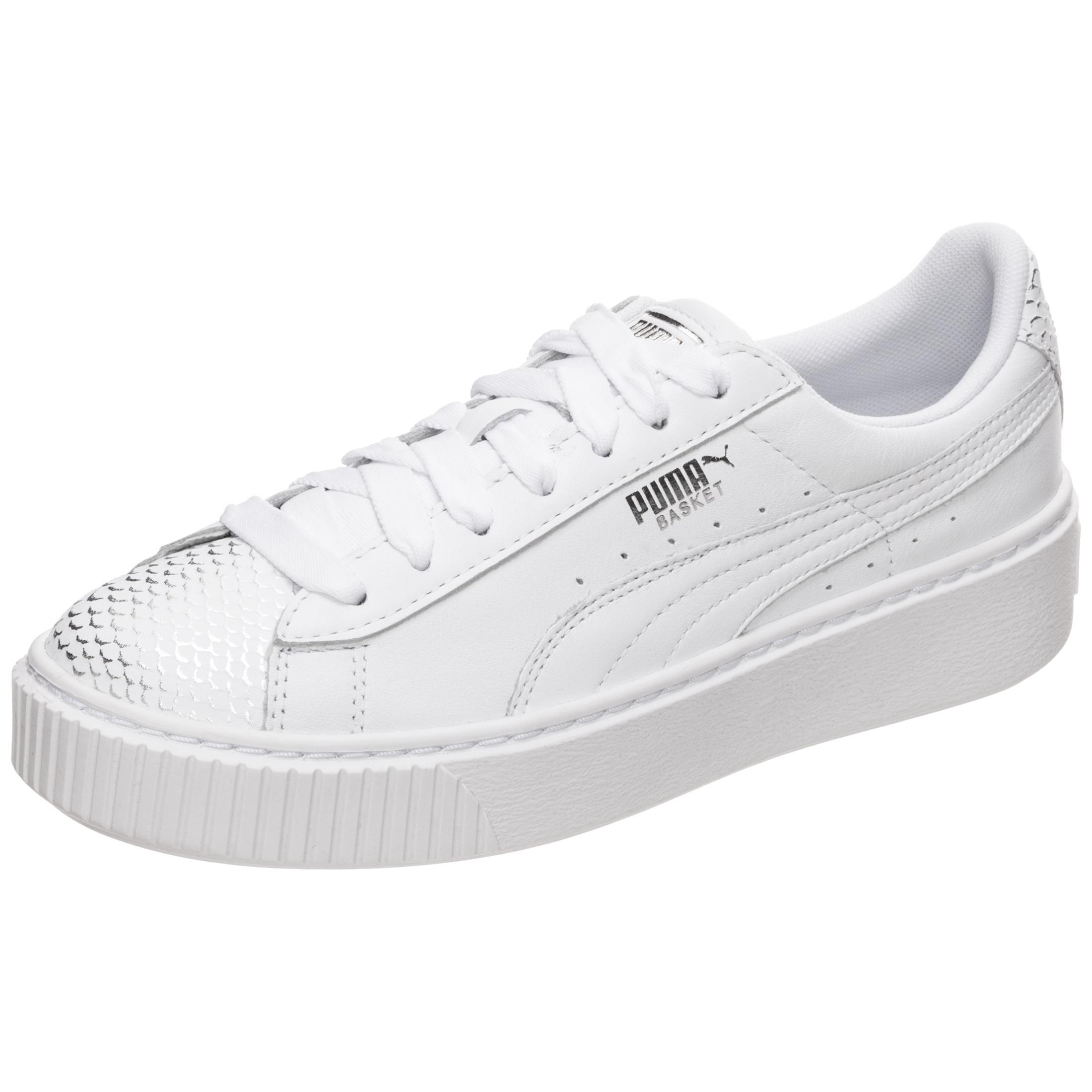 PUMA Basket Platform Ocean Sneaker Damen weiß / gold im Online Shop von  SportScheck kaufen