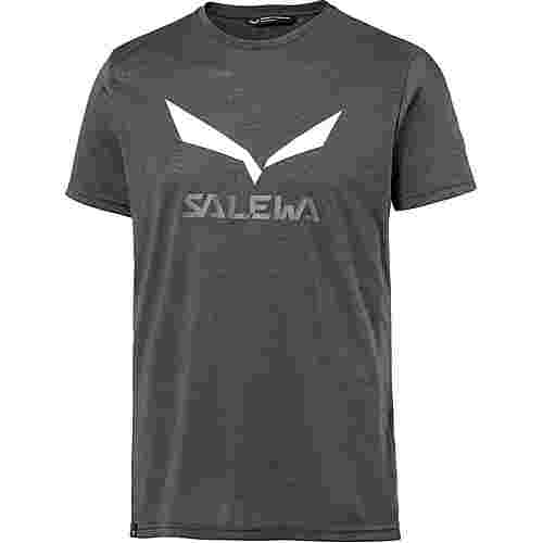SALEWA Solidlogo Funktionsshirt Herren black out melange