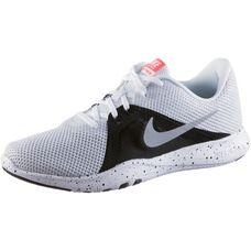 Nike Flex Trainer 8 Fitnessschuhe Damen white-metallic silver-black-total crimson