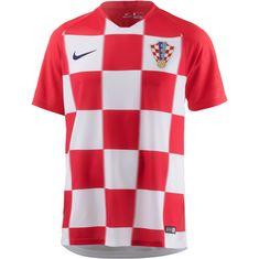 Nike Kroatien 2018 Heim Fußballtrikot Herren university red-white-deep royal blue