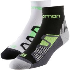 Salomon XT Hawk Laufsocken black-yellow-white-green