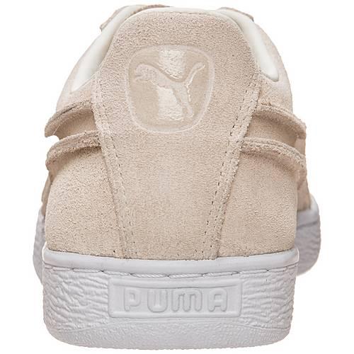 PUMA Suede Classic Exposed Seams Sneaker Herren beige weiß