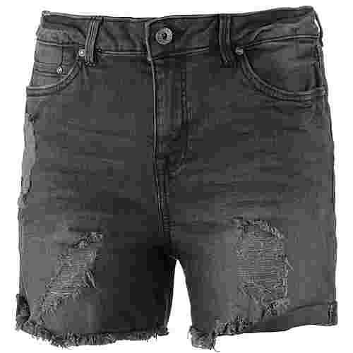 TOM TAILOR Jeansshorts Damen used-dark-stone-black-denim