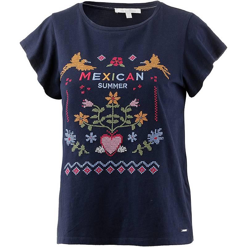 TOM TAILOR T-Shirt Damen real-navy-blue im Online Shop von ... 1c4451dfc0