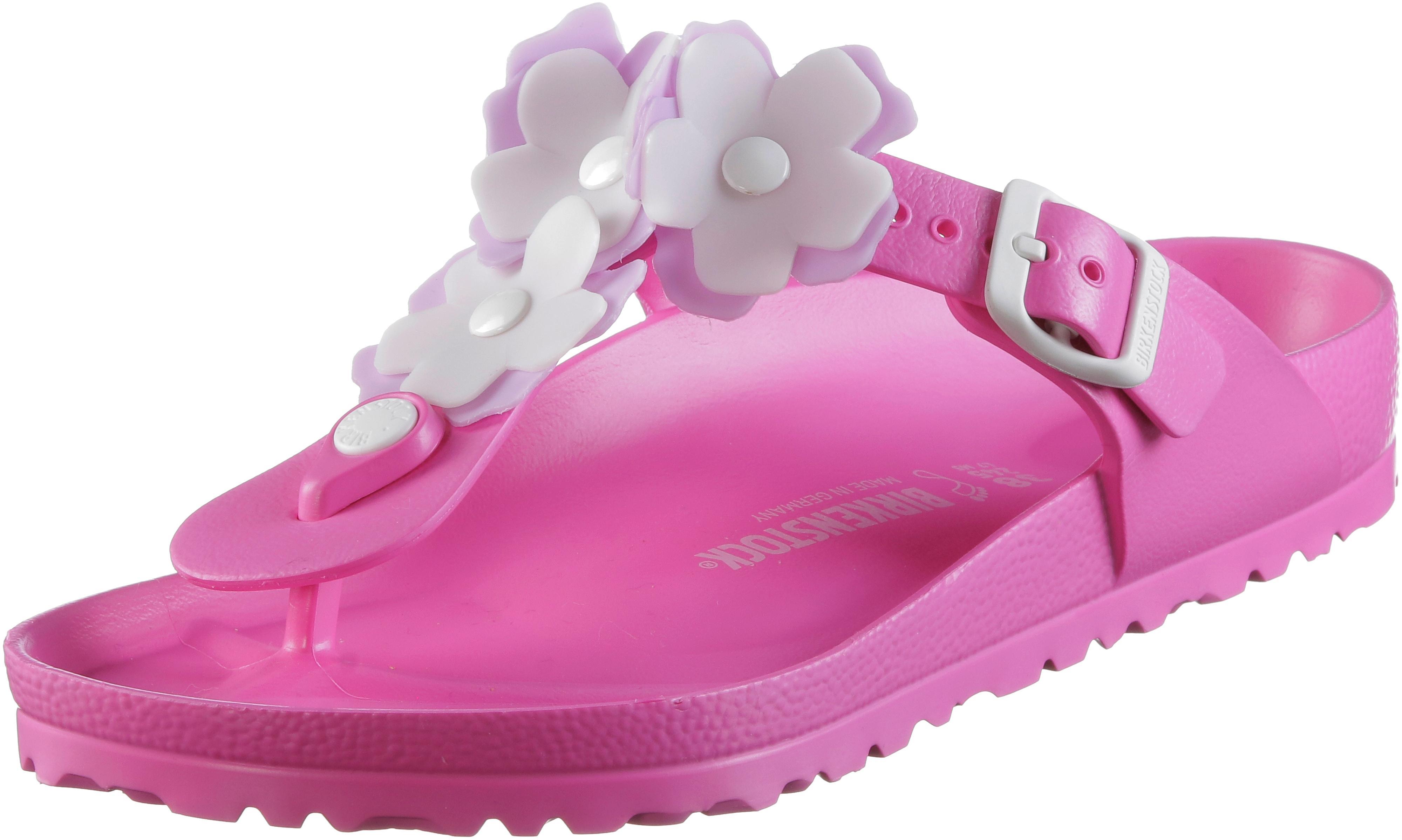 Online Birkenstock Eva Gizeh Sandalen Neon Pink Damen Flower
