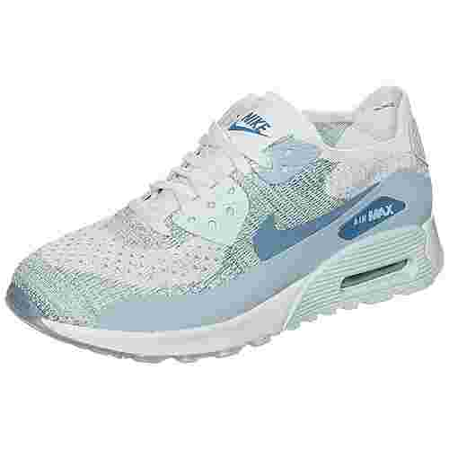 Nike Air Max 90 Ultra 2.0 Flyknit Sneaker Damen weiß / hellblau im Online Shop von SportScheck kaufen
