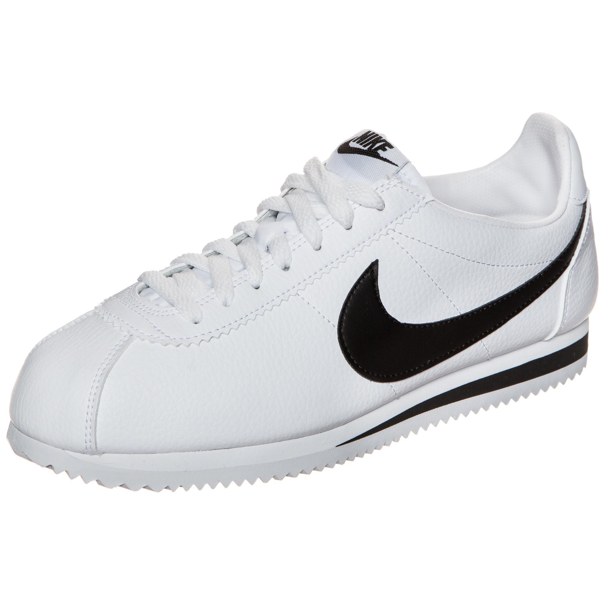 a few days away hot new products detailed look Nike Classic Cortez Leather Sneaker Herren weiß / schwarz im Online Shop  von SportScheck kaufen
