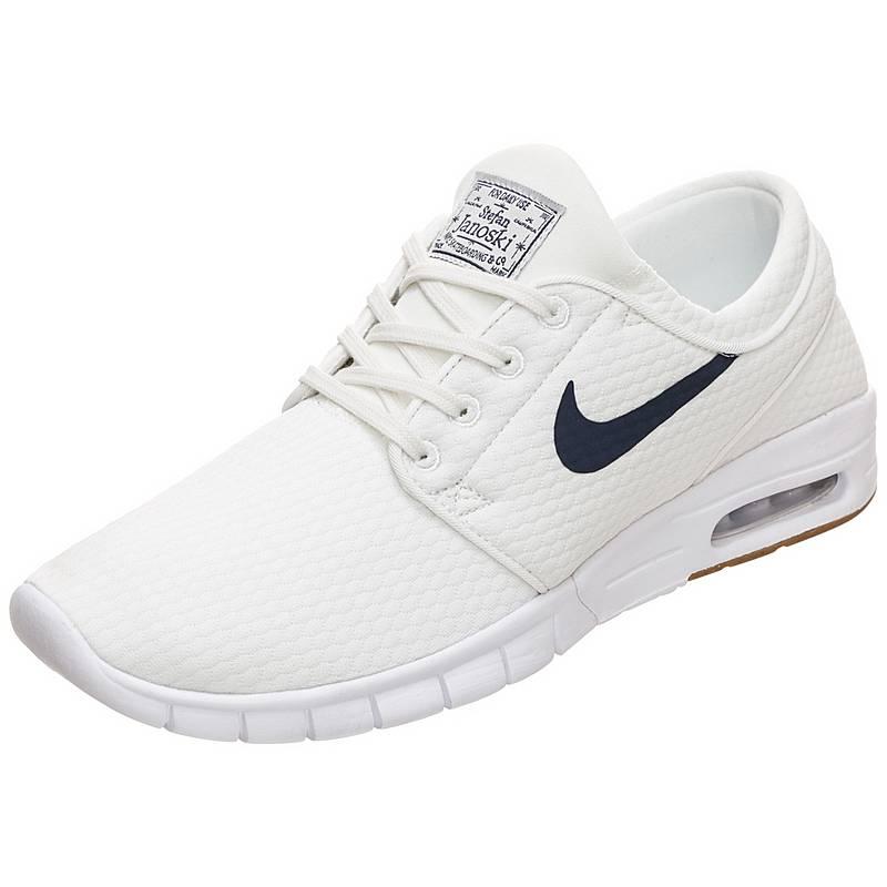size 40 e9777 57fdc Nike Stefan Janoski Max Sneaker Herren weiß  blau  braun