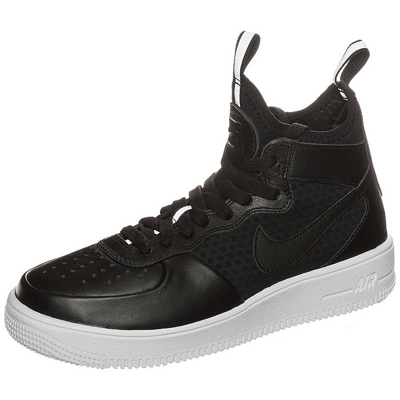 new product e2ef1 0778b Nike Air Force 1 Ultraforce Mid Sneaker Damen schwarz