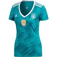 adidas DFB WM 2018 Auswärts Fußballtrikot Damen eqtgreen/white/realteal
