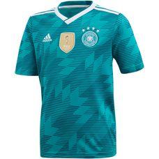 adidas DFB WM 2018 Auswärts Fußballtrikot Kinder eqtgreen/white/realteal