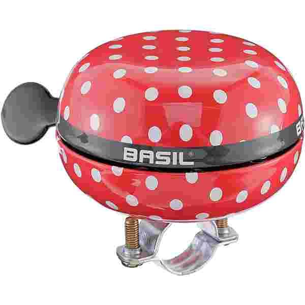 Basil Big Bell Polkadot Fahrradklingel red-white dots