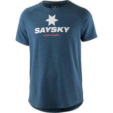 Saysky Classic Laufshirt Herren blue-melange