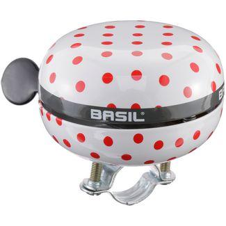 Basil Big Bell Polkadot Fahrradklingel white/red dots