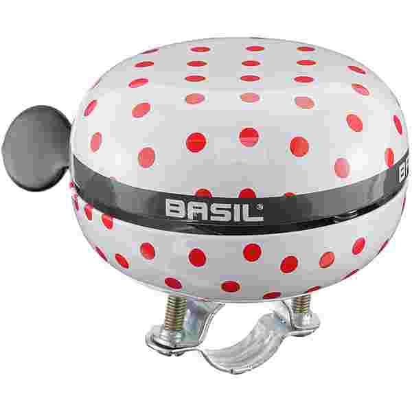 Basil Big Bell Polkadot Fahrradklingel white-red dots