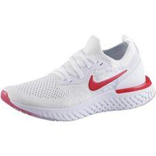 Nike REACT FLYKNIT Laufschuhe Kinder white-univ red-pure platinum