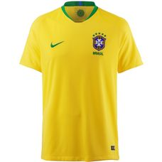 Nike Brasilien 2018 Heim Fußballtrikot Herren midwest gold-lucky green