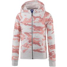 Nike Hoodie Kinder bleached coral-birch heather