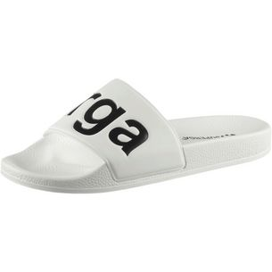 Superga Slides Badelatschen Damen white-black