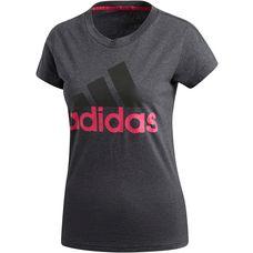 adidas Essentials T-Shirt Damen dark grey heather