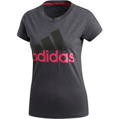 adidas Essentials T-Shirt Damen dark grey heather