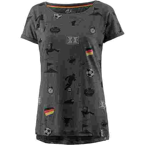 unifit Deutschland 2018 T-Shirt Damen dunkelgrau