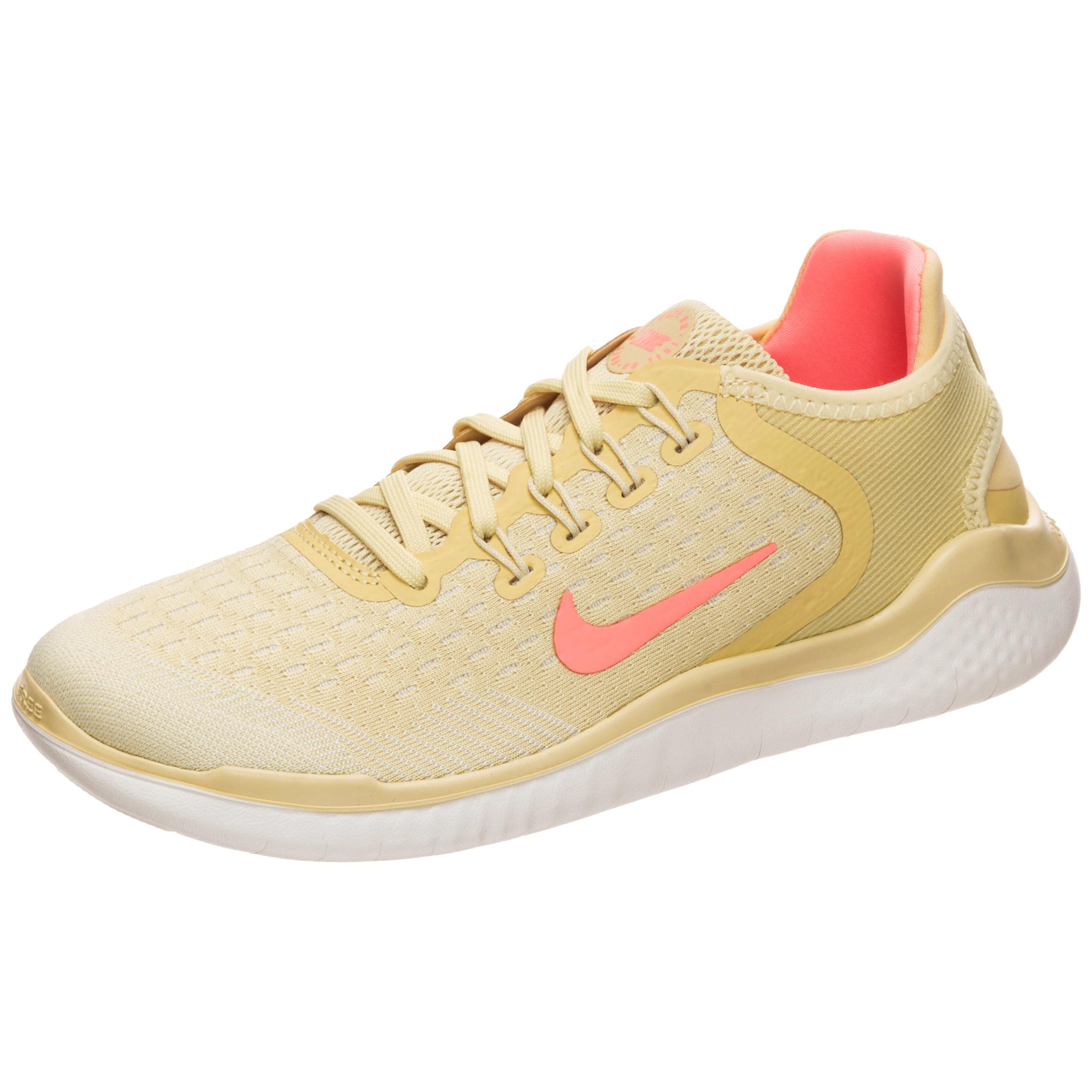 Nike Free RN 2018 Laufschuhe Damen gelb / korall im Online Shop von SportScheck kaufen