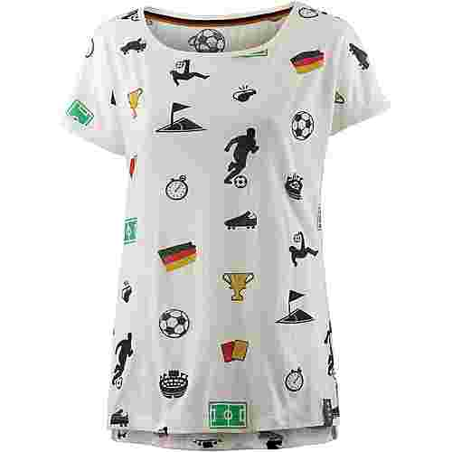unifit Deutschland 2018 T-Shirt Damen offwhite