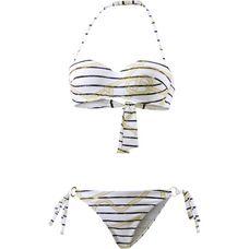 Armani Sea World Bandeau Bikini Damen white-blue