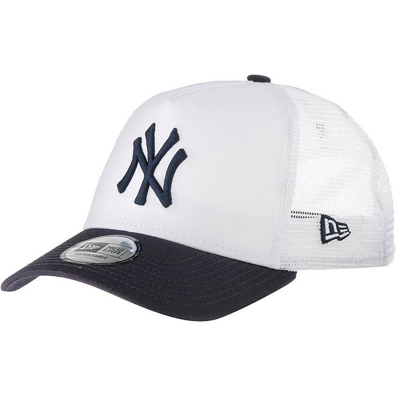 New Era A-FRAME TRUCKER NEW YORK YANKEES Cap optic white-navy im ...