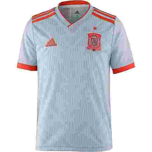 adidas Spanien WM 2018 Auswärts Fußballtrikot Kinder haloblue/brightred