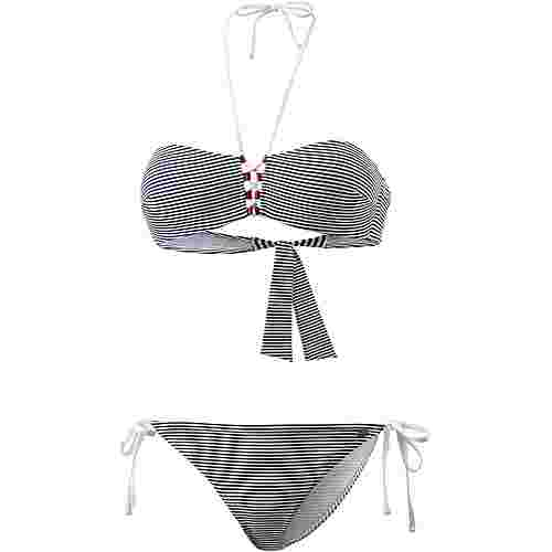 EA7 Emporio Armani Sea World Bikini Set Damen white-blue