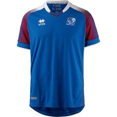 Errea Island 2018 Heim Fußballtrikot Herren blau-weiß
