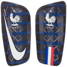 Nike Frankreich Mercurial Lite Schienbeinschoner dunkelblau / weiß