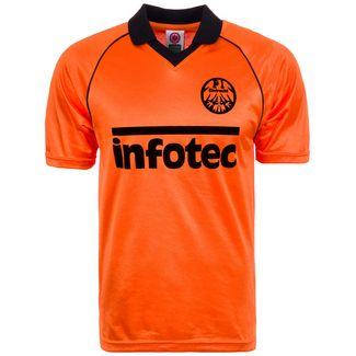 Scoredraw Eintracht Frankfurt 1981 Auswärts Fußballtrikot Herren orange / schwarz
