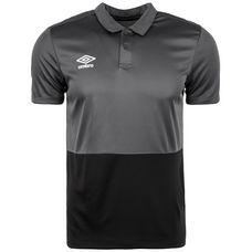 UMBRO Poly Poloshirt Herren grau / schwarz