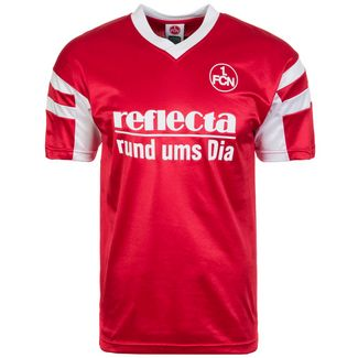 Scoredraw 1. FC Nürnberg 1988 Heim Fußballtrikot Herren rot / weiß