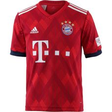 adidas FC Bayern 18/19 Heim Fußballtrikot Kinder FCB TRUE RED