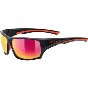 Uvex Sportstyle 222 pola Sportbrille black mat red/mirror red