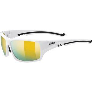 Uvex Sportstyle 222 pola Sportbrille white/mirror yellow