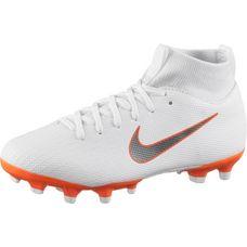 Nike JR MERCURIAL SUPERFLY 6 ACADEMY GS MG Fußballschuhe Kinder white-mtlc cool grey-total orange