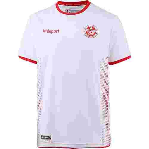 Uhlsport Tunesien 2018 Heim Fußballtrikot Herren weiß-rot