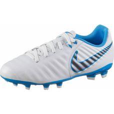 Nike JR TIEMPO LEGEND 7 ACADEMY FG Fußballschuhe Kinder white-mtlc cool grey-blue hero-mtlc cool grey-blue hero