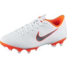 Nike JR MERCURIAL VAPOR 12 ACADEMY GS MG Fußballschuhe Kinder white-mtlc cool grey-total orange