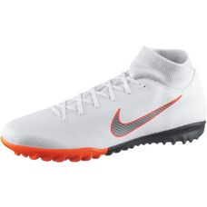 Nike MERCURIAL SUPERFLYX 6 ACADEMY TF Fußballschuhe Herren white-mtlc cool grey-total orange
