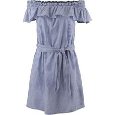 TOM TAILOR Kurzarmkleid Damen vertical-light-blue-stripe