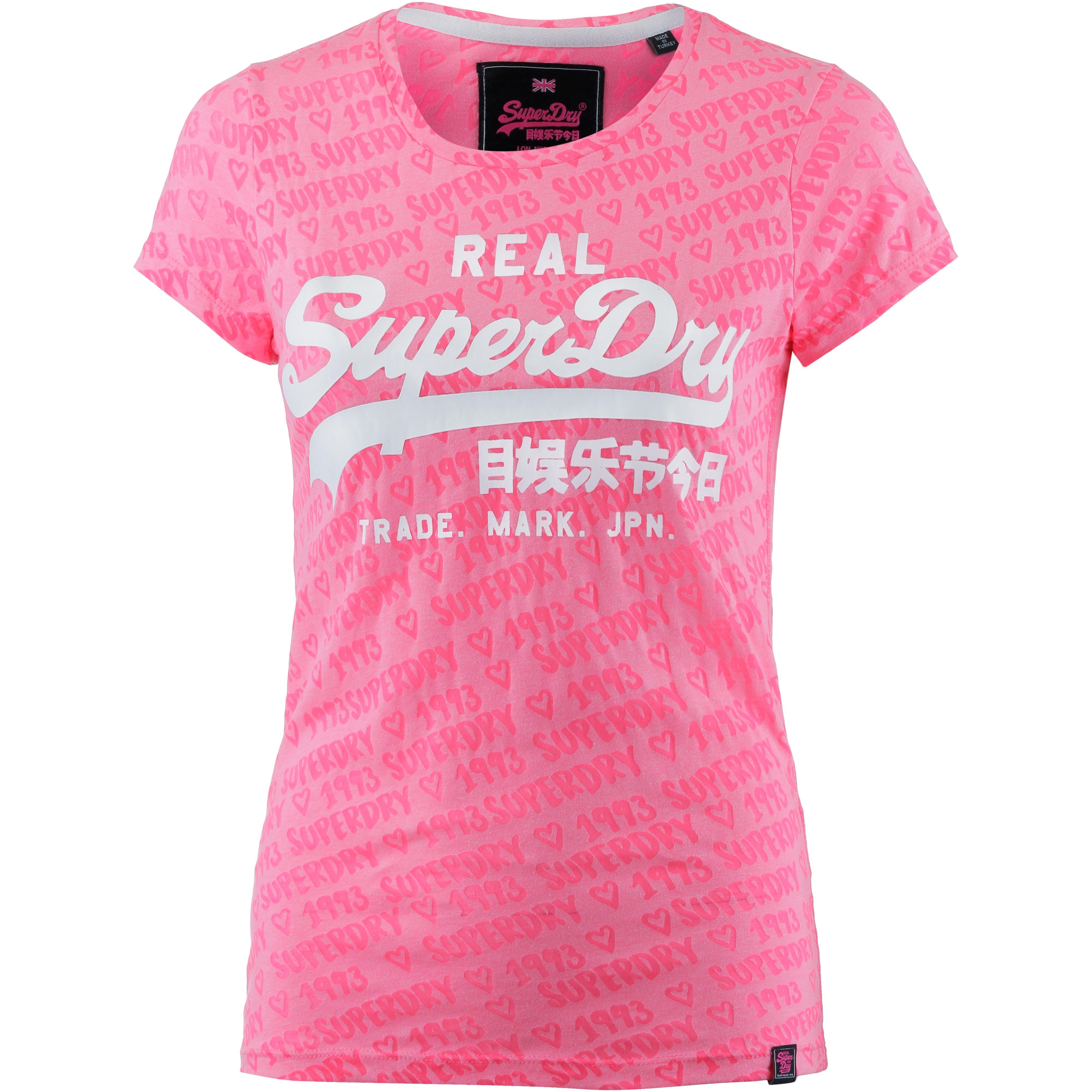 e2b85cc5759293 Superdry T-Shirt Damen fluro pink im Online Shop von SportScheck kaufen