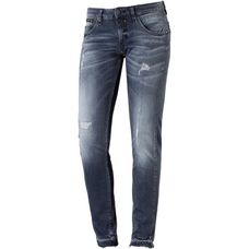 Herrlicher Skinny Fit Jeans Damen grey-stitched