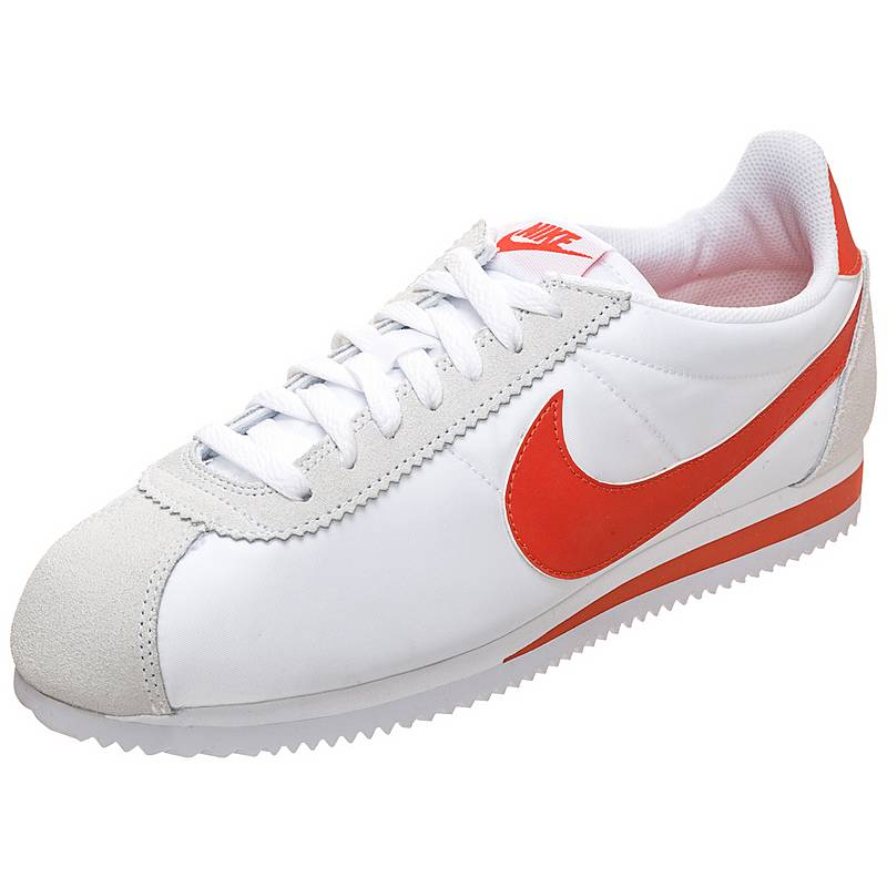 Nike Herren Classic Cortez Nylon Turnschuhe Weiß